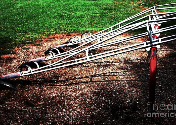 Kids Greeting Card featuring the photograph Teeter Totter by Robin Lynne Schwind