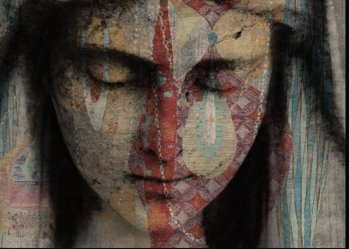 Religious Greeting Card featuring the mixed media Tell Me There's A Heaven by Paul Lovering