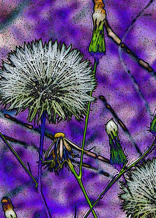 Flowers Greeting Card featuring the digital art Tell-time by Michele Caporaso