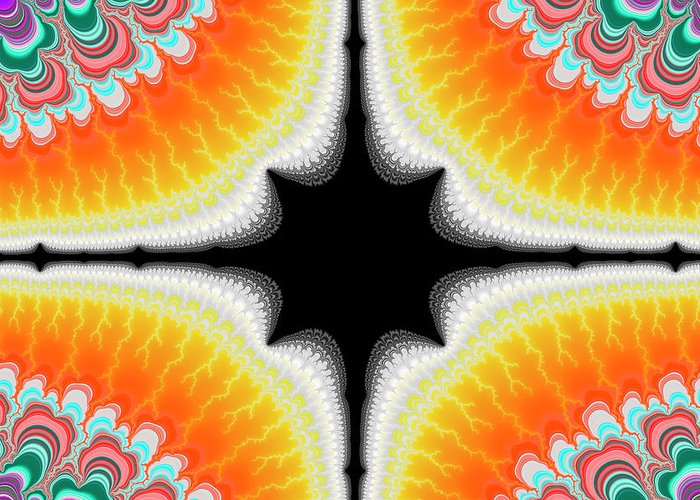 Fractal Greeting Card featuring the digital art Fractal 7 2x3 by Daniel George