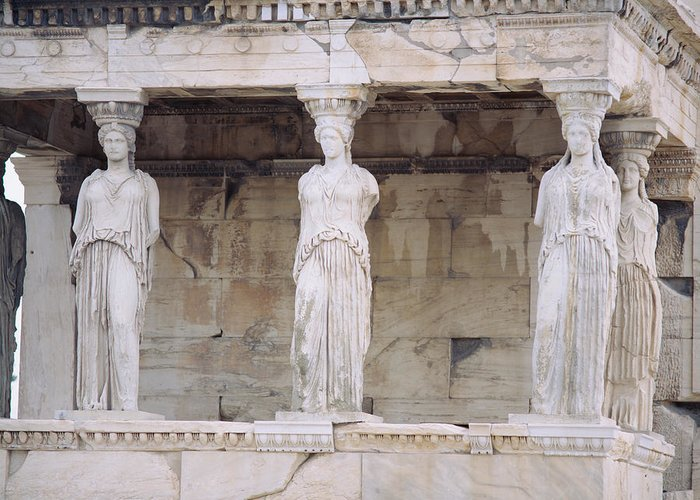 Temple Of Athena Greeting Cards