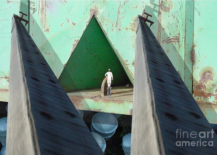 Abstract Greeting Card featuring the digital art Temple by Ron Bissett
