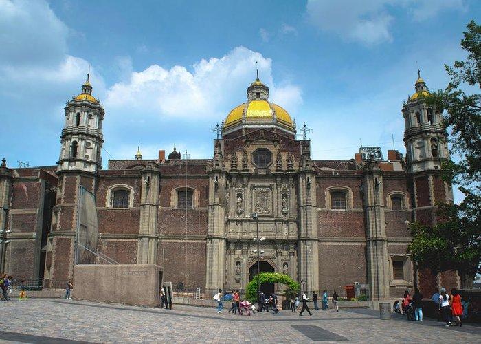 Basilica De Guadalupe Greeting Card featuring the photograph Templo Expiatorio A Cristo Rey - Mexico City by Totto Ponce