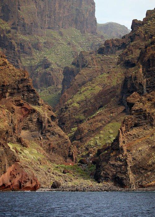 Valasretki Greeting Card featuring the photograph Tenerife Coastline by Jouko Lehto