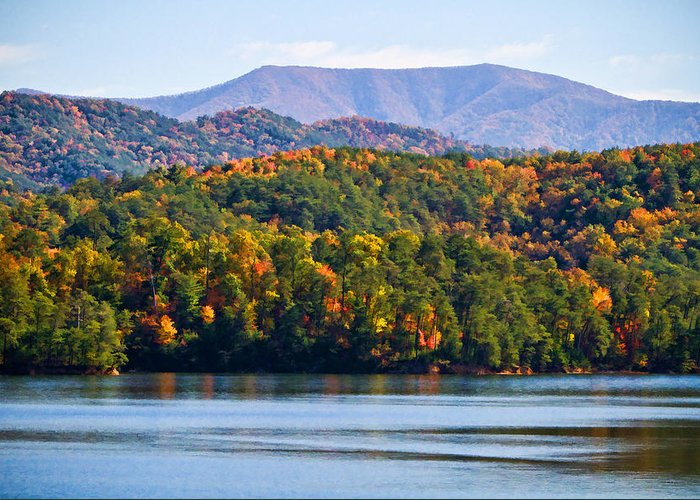 Tennessee Greeting Card featuring the digital art Tennessee Mountains by Paul Bartoszek
