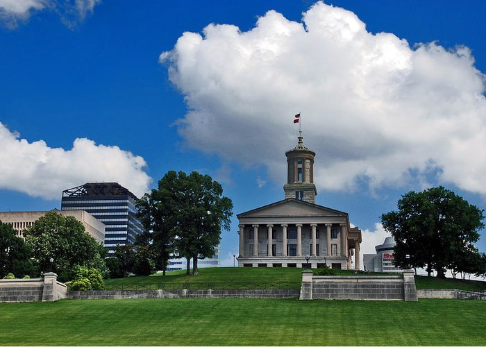 Tennessee State Capitol Greeting Card featuring the photograph Tennessee State Capitol Nashville by Susanne Van Hulst