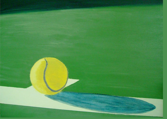 Tennis Greeting Card featuring the painting Tennis Reflections by Ken Pursley