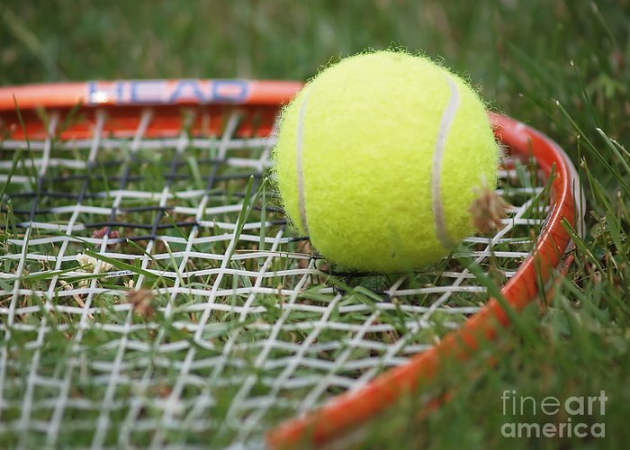 Tennis Greeting Card featuring the photograph Tennis by Valerie Morrison