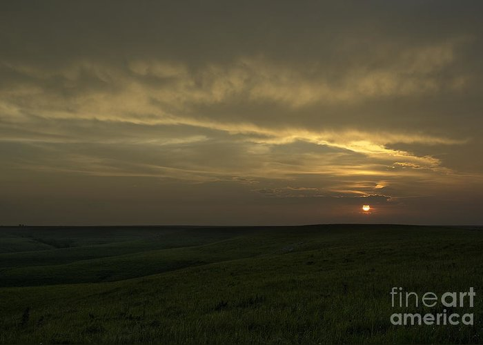 Kansas Greeting Card featuring the photograph Teterville Sunset by Fred Lassmann