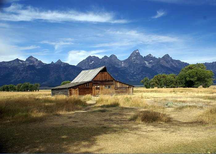 Grand Teton National Park Greeting Card featuring the photograph Teton Barn 3 by Marty Koch