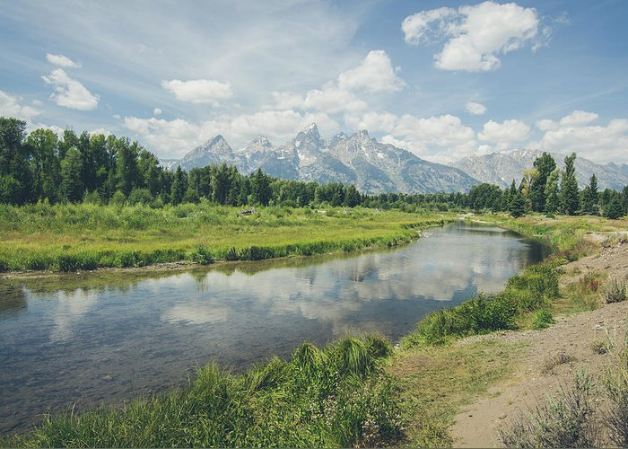 Grand Tetons Greeting Card featuring the photograph Teton Reflections by Margaret Pitcher