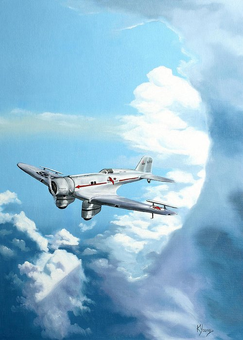 Transportation Greeting Card featuring the painting Texaco Sky Chief by Kenneth Young
