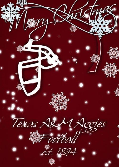Texas A&m Aggies Greeting Card featuring the photograph Texas Am Aggies Christmas Card by Joe Hamilton
