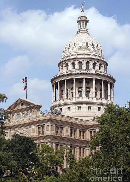 Capital Greeting Card featuring the photograph Texas Capitol by Jeannie Burleson