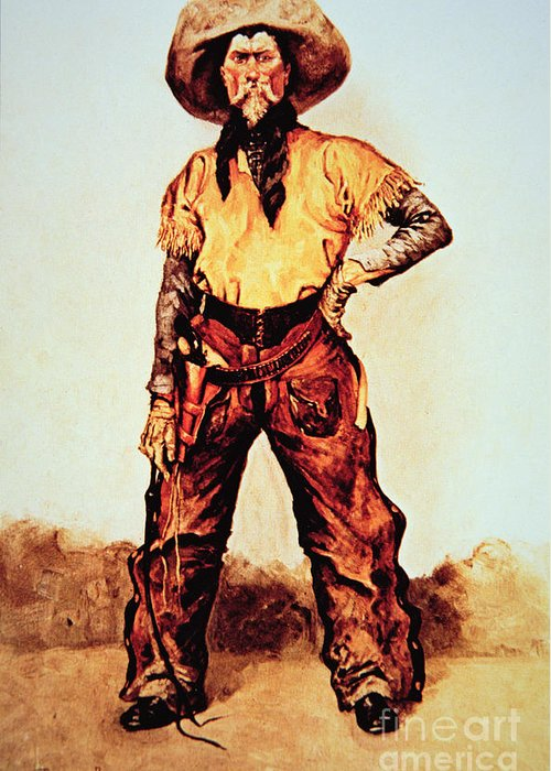 Texas Cowboy Greeting Card featuring the painting Texas Cowboy by Frederic Remington