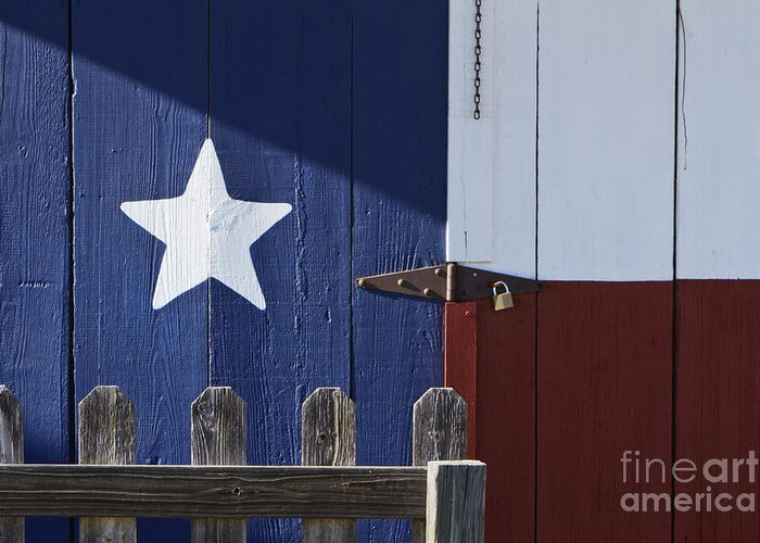 America Greeting Card featuring the photograph Texas Flag Painted On A House by Jeremy Woodhouse