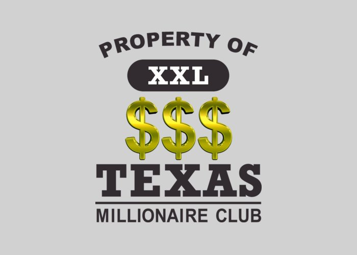 Texas Greeting Card featuring the digital art Texas Millionaire Club by Virgil Gann