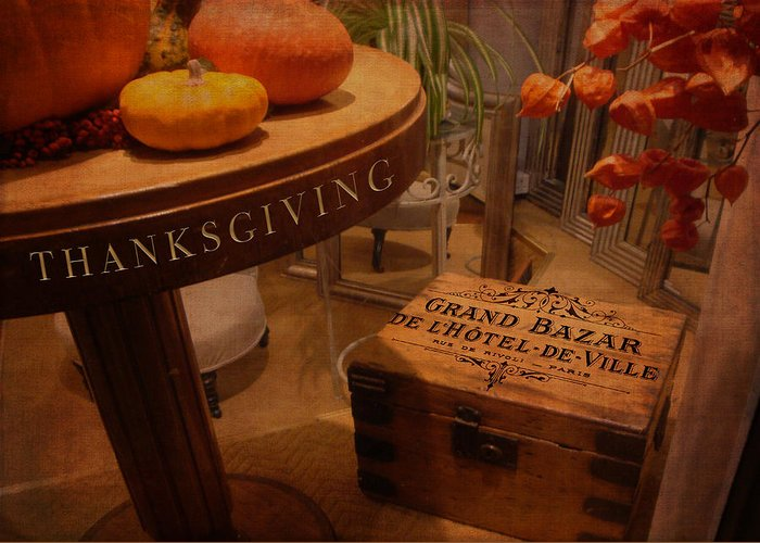 Thanksgiving Greeting Card featuring the digital art Thanksgiving Hideaway by Sarah Vernon
