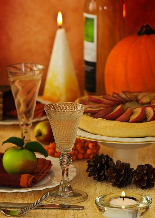 Thanksgiving Greeting Card featuring the photograph Thanksgiving Table by Amanda Elwell