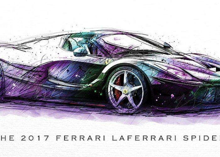 2017 Ferrari Laferrari Spider Poster