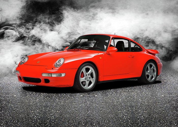 993 Turbo Greeting Card featuring the photograph The 911 Turbo 993 by Mark Rogan