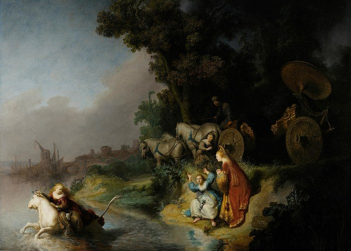 Rembrandt Greeting Card featuring the painting The Abduction Of Europa by Rembrandt