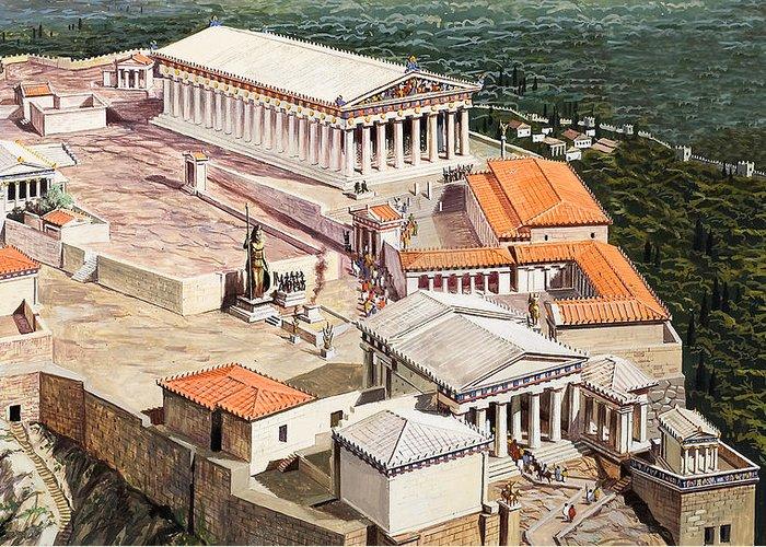 Greek Friezes Greeting Cards