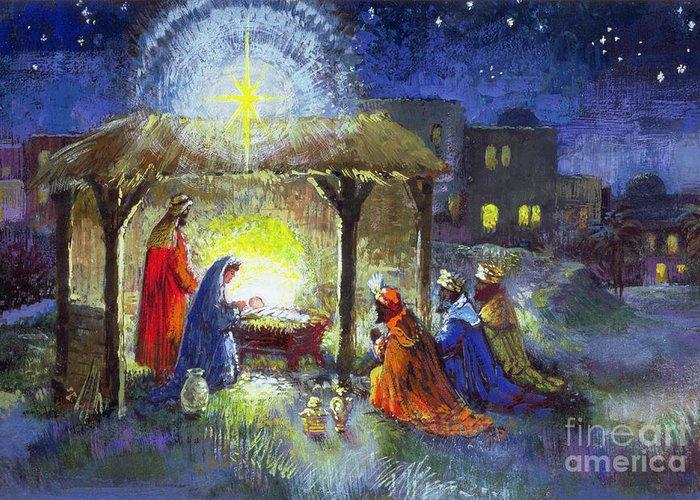 Star Of Bethlehem Drawings Greeting Cards