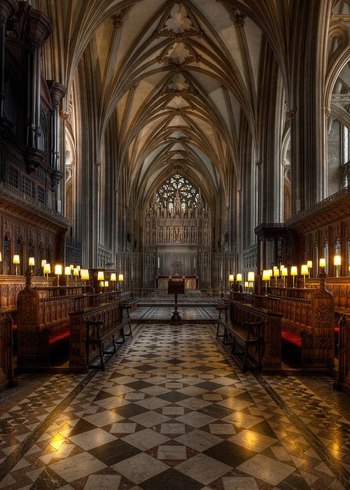 Architecture Greeting Card featuring the photograph The Altar by Adrian Evans