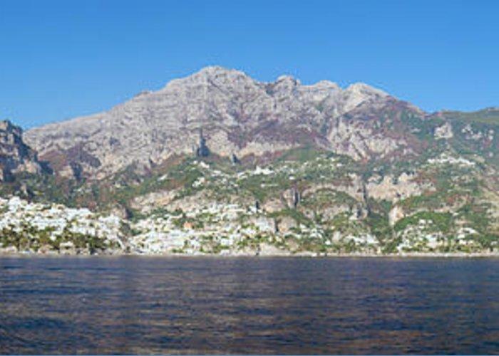 Europe Greeting Card featuring the photograph The Amalfi Coast - Panorama by Matt Swinden