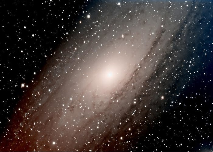 Star Greeting Card featuring the photograph The Andromeda Galaxy Close Up by Jim DeLillo