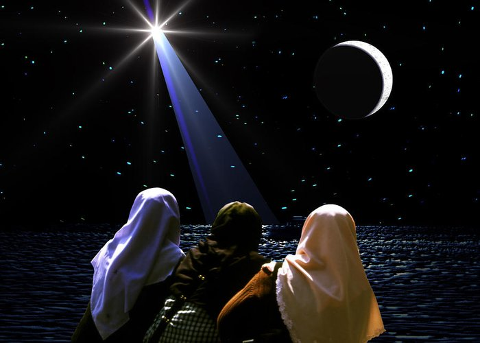 Chistmas Greeting Card featuring the photograph The Annunciation by Roger Soule