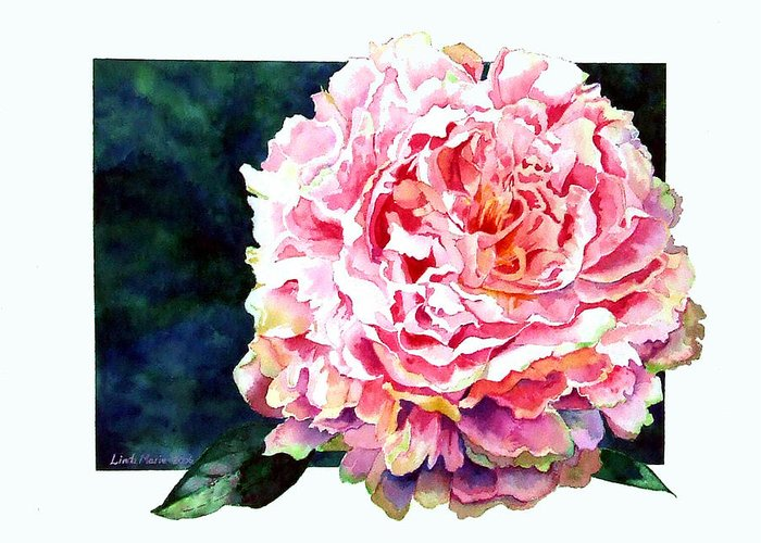 Peony Greeting Card featuring the painting The Ant's Castle by Linda Marie Carroll