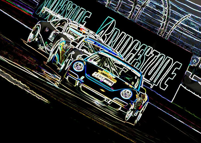 Porsche Greeting Card featuring the digital art The Apex by Sebastian Musial