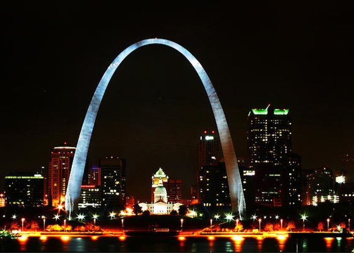 St Louis Greeting Card featuring the photograph The Arch by Anthony Jones