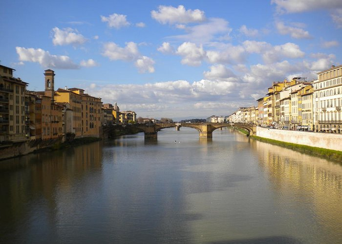 Arno Greeting Card featuring the photograph The Arno by Nancy Ferrier