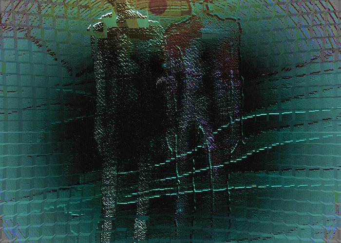 People Alien Arrival Visitors Greeting Card featuring the digital art The Arrival by Veronica Jackson