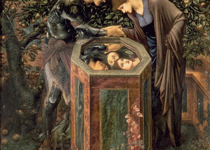 The Greeting Card featuring the painting The Baleful Head by Sir Edward Burne-Jones