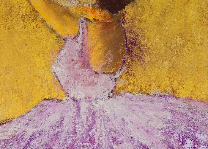 Pastel Greeting Card featuring the painting The Ballet Dancer by David Patterson
