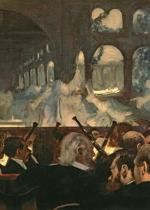 The Greeting Card featuring the painting The Ballet Scene From Meyerbeer's Opera Robert Le Diable by Edgar Degas