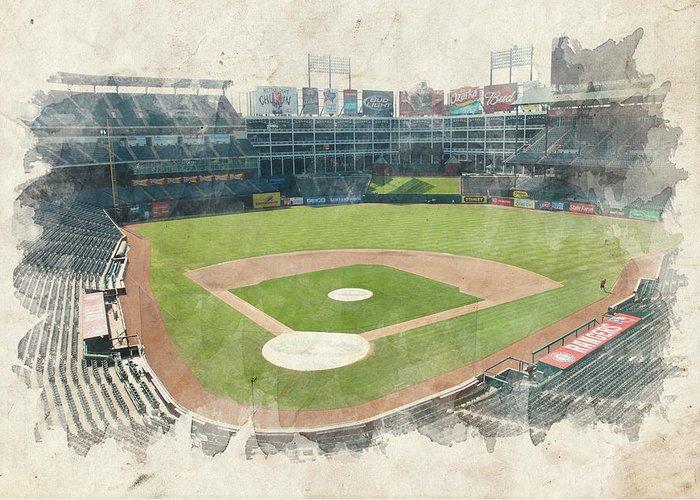 Texas Greeting Card featuring the photograph The Ballpark by Ricky Barnard