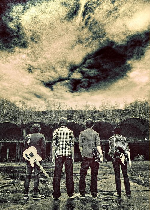 Band Greeting Card featuring the photograph The Band Has Arrived by Meirion Matthias