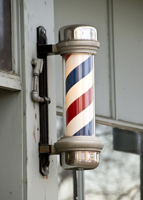 Barber Greeting Card featuring the photograph The Barber Shop 4 by Angelina Vick