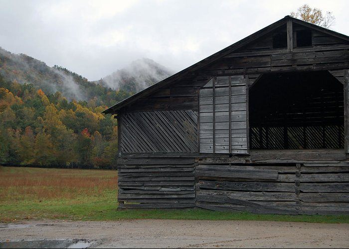 Tree Greeting Card featuring the photograph The Barn by Greg Straub