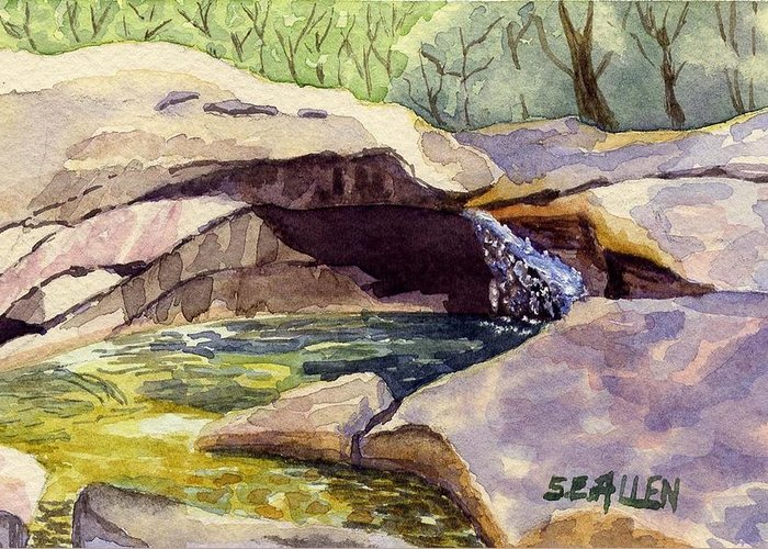 The Basin Greeting Card featuring the painting The Basin by Sharon E Allen