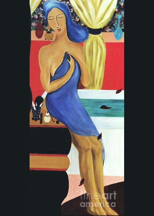 #bath Greeting Card featuring the painting The Bath by Jacquelinemari