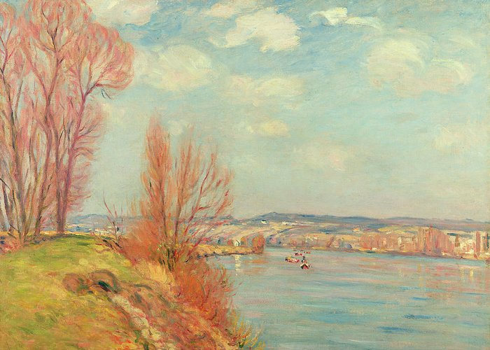 The Greeting Card featuring the painting The Bay And The River by Jean Baptiste Armand Guillaumin