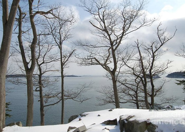 Water Greeting Card featuring the photograph The Bay In Winter by Faith Harron Boudreau