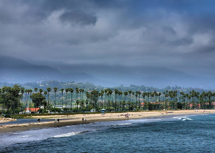 Shore Greeting Card featuring the photograph The Beach At Santa Barbara by Steven Ainsworth