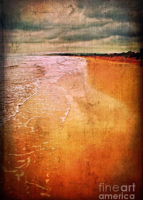Waves Greeting Card featuring the photograph The Beach by Silvia Ganora